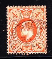 Great Britain Used Scott #150 4p Edward VII, Orange - 1902-1951 (Rois)