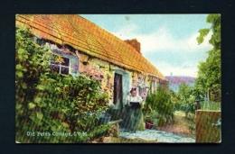 ISLE OF MAN  -  Old Peters Cottage  Used Vintage Postcard As Scans - Isle Of Man