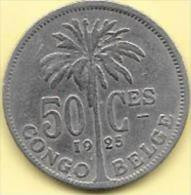 50 Centimes 1925 FR   Clas D 196 - Congo (Belgian) & Ruanda-Urundi