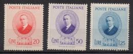 Regno 1938 - Guglielmo Marconi 436/438 MNH ** - 1900-44 Vittorio Emanuele III