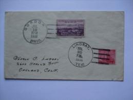 USA 1938 COVER WITH GORDON AND LINDSAY POSTMARKS TO GORDON LINDSAY - United States