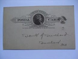 USA 1889 POSTCARD GENOA NEBRASKA TO BURCHARD NEBRASKA - Brieven En Documenten