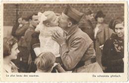 L'Armée Belge En Campagne - Le Plus Beau Des Sourires - De Schoonste Glimlach - Carte Nels Non Circulée - Militaria