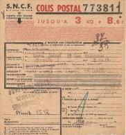 Bulletin D´expédition  N° 773811 Avec Colis Postaux N° Sans  -     CO - Colis Postaux