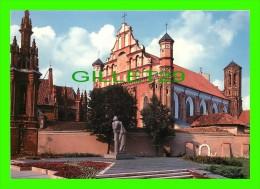 VILNIAUS, LITUANIE, VILNIUS  - MONUMENT TO ADAM MICKIEWICZ, SCULPTOR - FOT. J. JAKIMAVICIUS , 1990 - MINTIS - - Lituanie