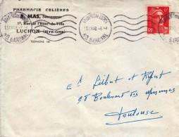 1948 - Lettre Commerciale - Luchon (Haute-Garonne) - Pharmacie Mas - FRANCO DE PORT - France