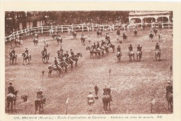 Saumur - Ecole D'Application De Cavalerie - Lot De 3 Cartes A.B. Non Circulées - Officiers-élèves Et Spahis - Regiments