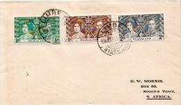Postal History Cover: Nyasaland Coronation Set On Cover - Royalties, Royals