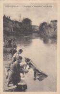 7714-CERVIGNANO(UDINE)-LAVANDAIE E PESCATORI SULL'AUSSA-ANIMATA-1916-FP - Udine