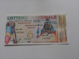 LOTTERIA NAZIONALE PALIO DELLA BALESTRA SANSEPOLCRO E GIOSTRA DEL SARACINO AREZZO - 1994 - Publicité