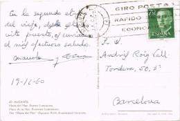 16455. Postal ALICANTE 1960. Vista Fuente Luminosa Plaza Del Mar - 1931-Heute: 2. Rep. - ... Juan Carlos I