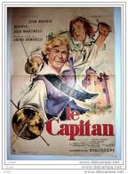 AFFICHE CINEMA LE CAPITAN BOURVIL JEAN MARAIS CAPE ET EPEE 1960 - Affiches