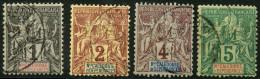 Nouvelle Caledonie (1892) N 41 à 44 (o) - Usati