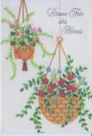 Cpsm -bonne Fete Des Mères Entièrement Gaufrée,suspensions De Fleurs - Fête Des Mères
