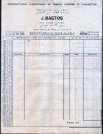 Facture- J.BASTOS-Manufacture Cigares Et Cigarettes-Benturqui-Belimane-1963 - Documents