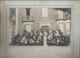 Photo De Mariage / Groupe/Larocque-Barbey/La Couture Boussey/Eure/Montée Sur Carton/Grand Format/Vers 1910-1930 PHOTN101 - Non Classificati