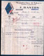 Facture- J.BASTOS-Manufacture Cigares Et Cigarettes-ORAN-... - Documents