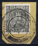 ICELAND: Mi Nr 87 Used 1920  Cancel  Scotland UK   EDENBURUGH - 1873-1918 Dänische Abhängigkeit