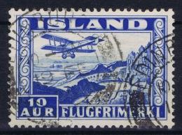 ICELAND: Mi Nr 175 R Used 1934  Cancel  Scotland UK   EDENBURUGH - Poste Aérienne