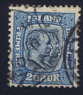 ICELAND: Mi Nr 56 Used 1907  Cancel  Scotland UK - 1873-1918 Dänische Abhängigkeit