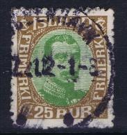 ICELAND: Mi Nr 92 Used 1920  Cancel  Denmark Kopenhagen Copenhagen - 1873-1918 Dänische Abhängigkeit