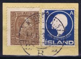 ICELAND: Mi Nr 40 + 65  Used   Cancel  Denmark Kopenhagen Copenhagen - 1873-1918 Dänische Abhängigkeit