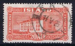 ICELAND: Mi Nr 116  Used   1925 Cancel  Norway Bergen - 1873-1918 Dänische Abhängigkeit