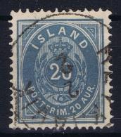 ICELAND: Mi Nr 14 A  Used  1882  14 : 13,5 - 1873-1918 Dänische Abhängigkeit