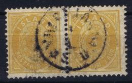 ICELAND: Mi Nr 22 Used  1882  Pair - 1873-1918 Dänische Abhängigkeit