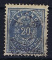 ICELAND: Mi Nr 14 B  Used  1882  12.75 - 1873-1918 Dänische Abhängigkeit