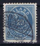 ICELAND: Mi Nr 14 B  Used  1882  12.75 - Usati