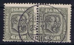 ICELAND: Mi Nr 38  Used  1902  Pair - 1873-1918 Dänische Abhängigkeit