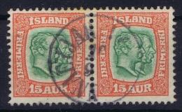 ICELAND: Mi Nr 54  Used  1907  Pair - 1873-1918 Dänische Abhängigkeit