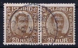 ICELAND: Mi Nr 101  Used  1921  Pair - 1918-1944 Unabhängige Verwaltung