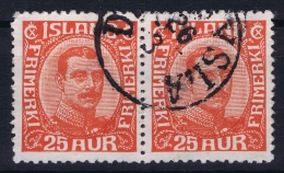 ICELAND: Mi Nr 102  Used  1921  Pair - 1918-1944 Unabhängige Verwaltung