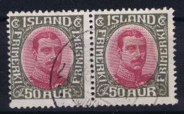 ICELAND: Mi Nr 95  Used  1920  Pair - 1918-1944 Unabhängige Verwaltung