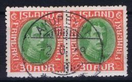 ICELAND: Mi Nr 163  Used  1931  Pair - 1918-1944 Unabhängige Verwaltung