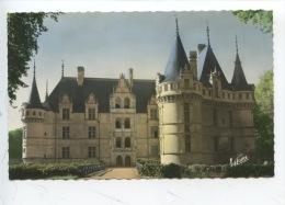 Azay Le Rideau : Entrée Du Château Cour D'honneur Et Fçade Principale (n°2/826 éd Valoire Neuve) - Azay-le-Rideau