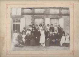 Photo Mariage / Groupe/Cardonnet-Roussel/La Couture Boussey/Eure/Montée Sur Carton/Grand Format/Vers 1910-1930 PHOTN103 - Non Classificati