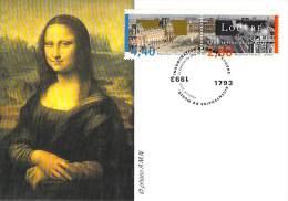 FRANCE CARTE  PHILATELIQUE  NUM.YVERT 2851/2852 MUSEE DU LOUVRE 200 ANS - Cartoline Maximum