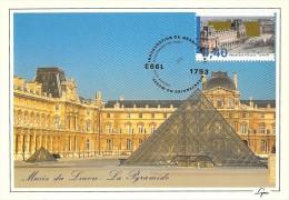 FRANCE CARTE  PHILATELIQUE  NUM.YVERT 2852 MUSEE DU LOUVRE 200 ANS - Cartoline Maximum