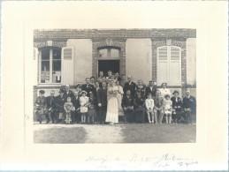 Photo Mariage / Groupe/Flûteau - Blot/Epieds/Eure/Tirage Avec Marge/Moyen  Format/1945   PHOTN104 - Non Classificati