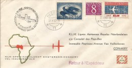 Netherlands Guinee Guinea 1960 Amsterdam Conakry KLM FFC First Flight Vol Inaugural Cover - Guinee (1958-...)