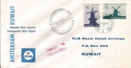 Netherlands Kuwait 1963 Amsterdam Safat KLM FFC First Flight Cover - Koeweit