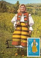 FOLKLORE COSTUMES MARAMURES REGION, CM, MAXICARD, CARTES MAXIMUM, 1981, ROMANIA - Costumes