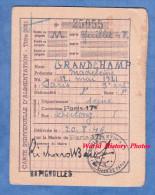 Carte Ancienne D´alimentation - PARIS 17e Rue Dulong - 1946 - Mme Madeleine GRANDCHAMP - Cachet Batignolles - Historical Documents