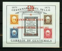 Guatemala 1974,5V In Block,ovpt In RED,WM 74,football,fussball,voetbal,fútbol,calcio,MNH/Postfris(L2056) - Coppa Del Mondo