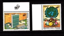 1995 Burkina Faso UN Cpl Set Of 2 MNH - Burkina Faso (1984-...)