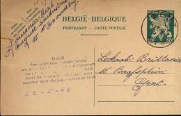 Briefkaart - Postkaart Fouconier St Amandsberg  -  Politieke Gevangenen Gent - 1945 - Cartes Postales [1934-51]