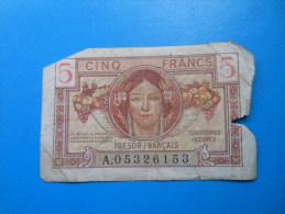 TERRITOIRES OCCUPES TRESOR FRANCAIS 5 Francs - Treasury